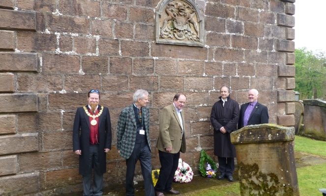 Picture showing Jim Todd, James Knox, James Naughtie, Dr. Gordon Turnbull and Rev. Steve Clipston