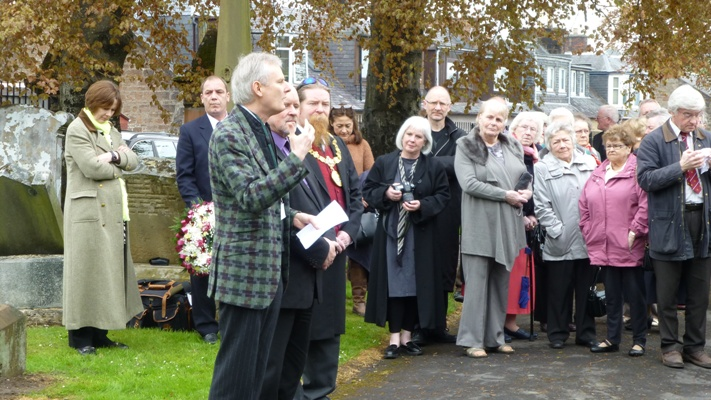 Introduction by James Knox, chairman of the Boswell Museum and Mausoleum Trust