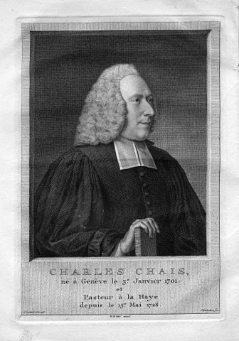 Engraving of Charles Pierre Chais by Jakob Houbraken after an original by Jean-Étienne Liotard (ca. 1755)