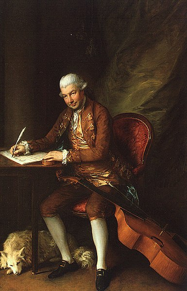 Portrait of Karl Friedrich Abel by Thomas Gainsborough (1777)
