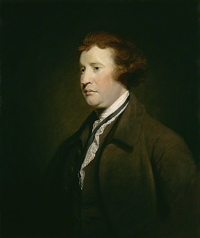 Painting of Edmund Burke by Joshua Reynolds (ca. 1767)