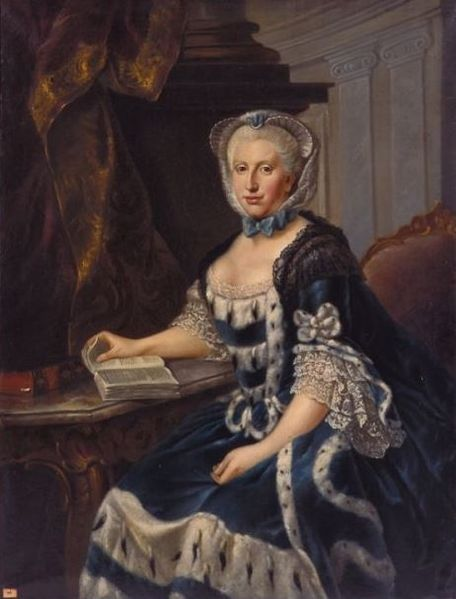 Painting of Augusta by J. G. Ziesenis (ca. 1770)
