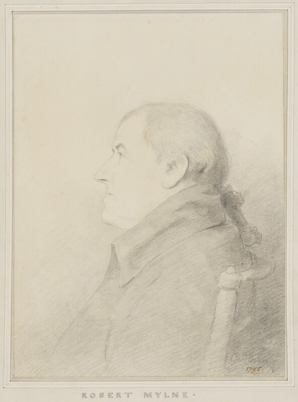 Robert Mylne by George Dance (1795)
