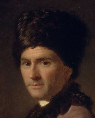Detail of a portrait of Rousseau by Allan Ramsay (1766)